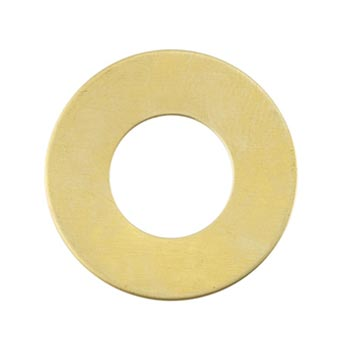 "Brass Washer 1"" 25.3mm (7mm band) 24g Stamping Blank x1"