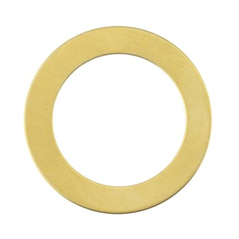 Brass Washer 24g Stamping Blank 31.8mm