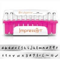 ImpressArt Standard Bridgette 3mm Alphabet Lower Case Letter Metal Stamping Set