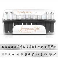 ImpressArt Premium Bridgette Alphabet Lower Case Letter 3mm 1/8 Stamping Set