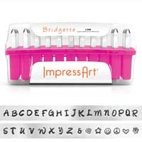 ImpressArt Standard Bridgette 3mm Alphabet Upper Case Letter Metal Stamping Set