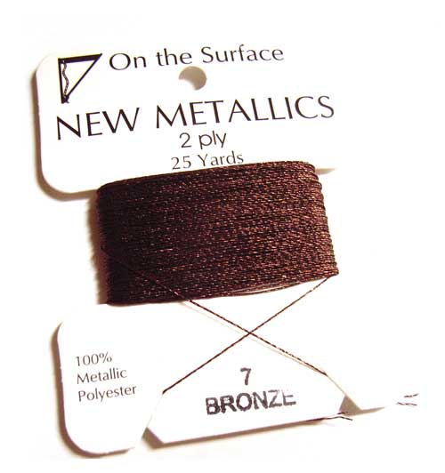 On the Surface - New Metallics 2 Ply 25yds Thread Bronze
