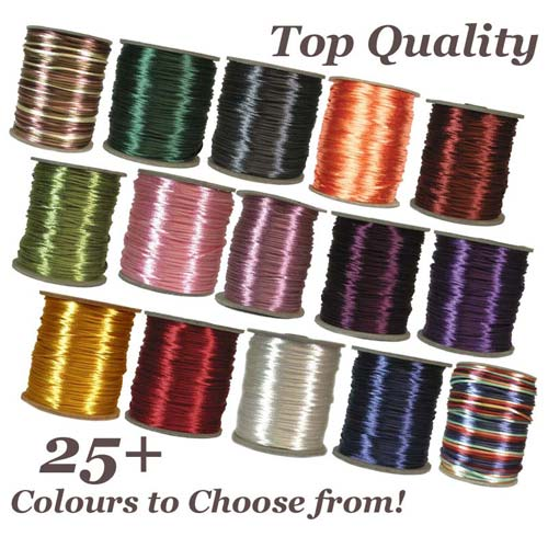 Rattail TM 3mm (Kumihimo) Satin Braiding Cord Bulk Spool (x1 Spool) Choose Colour (Pre-Order)