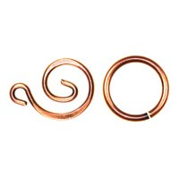 Trinity Brass Antique Copper Swirl Clasp Set x1
