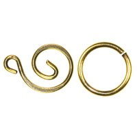 Trinity Brass Antique Gold Swirl Clasp Set x1