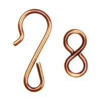 Trinity Brass Antique Copper Hook & Eye Clasp Set x1