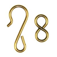 Trinity Brass Antique Gold Hook & Eye Clasp Set x1