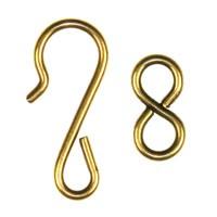 Trinity Brass Antique Gold Hook & Eye Clasp Set x1