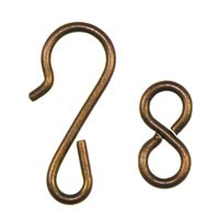 Trinity Brass Vintage Patina Hook & Eye Clasp Set x1