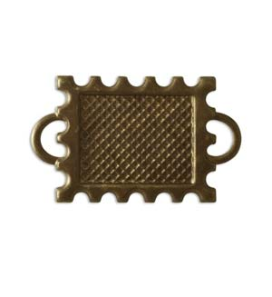 Vintaj Natural Brass 30x18mm Memoir Stamp Bezel x1