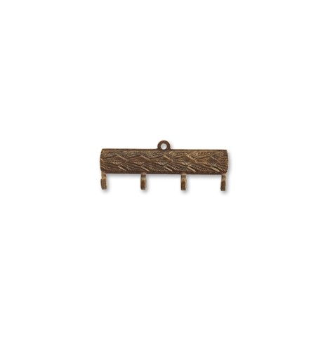 Vintaj Natural Brass 30x12mm Decorative Hanger x1