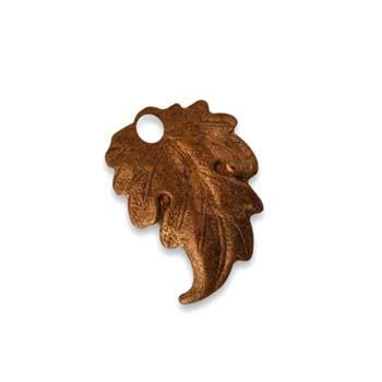 Vintaj Aristan Copper 18x13mm Prairie Leaf