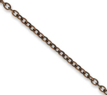 Vintaj Natural Brass 1.5mm Extra Fine Cable Chain per half foot