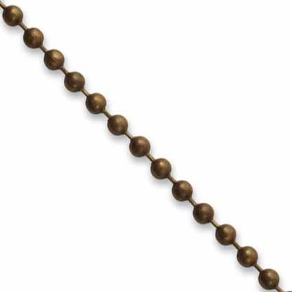 Vintaj Natural Brass 3.2mm Ball Chain per half foot