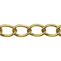 Trinity Brass Antique Gold 4.5x3.2mm Medium Oval Curb Chain (open link) per x1ft - 30cm