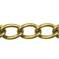 Trinity Brass Antique Gold 7x4.5mm Large Curb Chain (open link) per x1ft - 30cm
