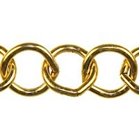 Trinity Brass Antique Gold 10mm Large Round Cable Chain (open link) per x1ft - 30cm