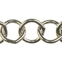 Trinity Brass Antique Silver 10mm Large Round Cable Chain (open link) per x1ft - 30cm