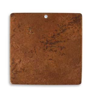 Vintaj Aristan Copper 29.5mm Metal Blank Square x1