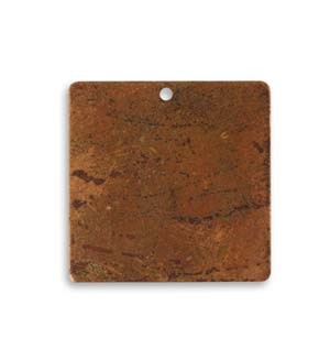 Vintaj Aristan Copper 23.5mm Metal Blank Square x1