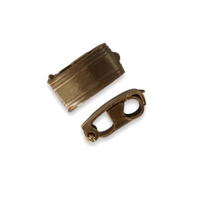Vintaj Natural Brass 13x6.5mm Bracelet Foldover Clasp