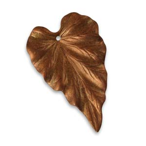 Vintaj Aristan Copper 38x23mm Woodland Leaf x1