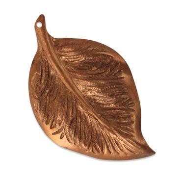 Vintaj Aristan Copper 54x33mm Mission Leaf x1