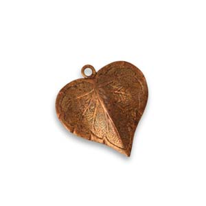 Vintaj Aristan Copper 17x16mm Classic Nouveau Leaf x1