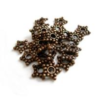 Pure Copper Antiqued Bali Styled 7mm Star Spacer Beads x20