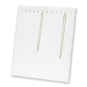 "Necklace Chain Pad Easel Display 15x12"" - Portrait White Velvet"