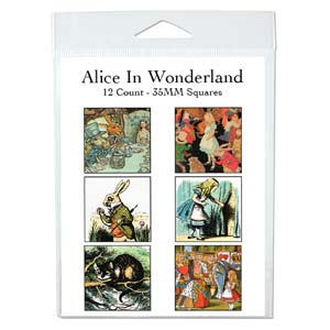 Collage Sheet - 35x35mm Squares Alice in Wonderland