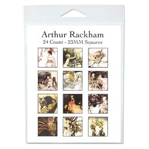 Collage Sheet - 23x23mm Squares Arthur Rackham