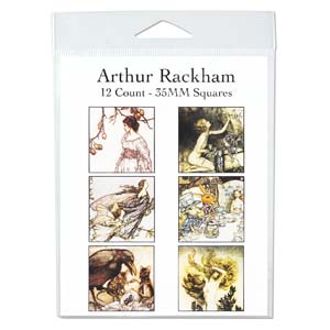 Collage Sheet - 35x35mm Squares Arthur Rackham