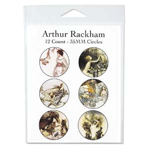 Collage Sheet - 35mm Circles Arthur Rackham