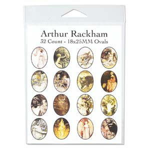 Collage Sheet - 18x25mm Oval Arthur Rackham
