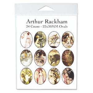 Collage Sheet - 22x30mm Oval Arthur Rackham