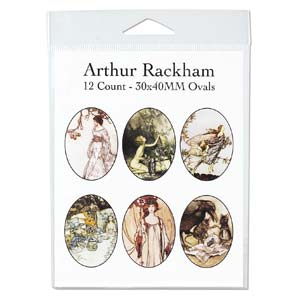 Collage Sheet - 30x40mm Oval Arthur Rackham