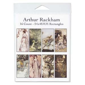 Collage Sheet - 24x48mm Rectangle Arthur Rackham