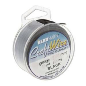 Beadsmith Jewellery Wire 18ga Black per 7yd Spool