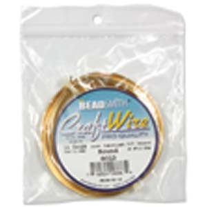 Beadsmith Jewellery Wire 16ga Gold per 15ft Coil