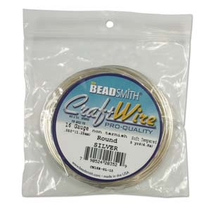 Beadsmith Jewellery Wire 12ga Silver per 5ft Spool