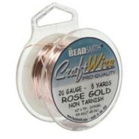Beadsmith Jewellery Wire 20ga Rose Gold per 6yd Spool