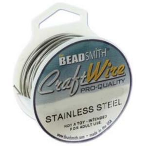 Beadsmith Jewellery Wire 24ga Stainless Steel per 20yd Spool