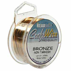 Beadsmith Jewellery Wire 22ga Bronze per 15yd Spool
