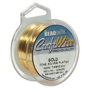 Beadsmith Jewellery Wire 18ga Gold per 50ft Spool