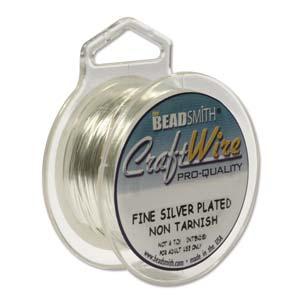 Beadsmith Jewellery Wire 28ga Silver per 15yd Spool