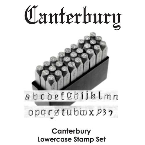 DEADSTOCKED ImpressArt Canterbury 6mm Alphabet Lower Case Letter Metal Stamping Set