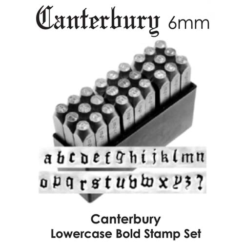 ImpressArt Canterbury Bold 6mm Alphabet Lower Case Letter Metal Stamping Set