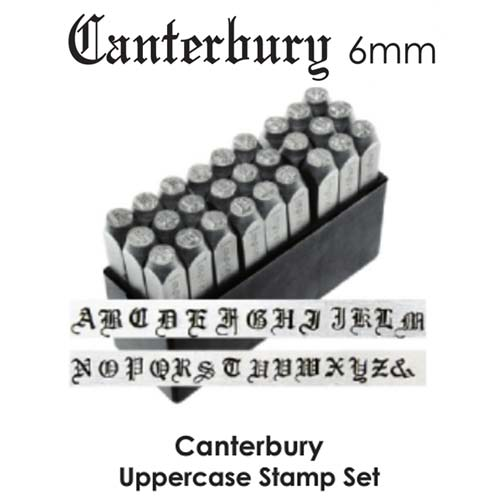DEADSTOCKED ImpressArt Canterbury 6mm Alphabet Upper Case Letter Metal Stamping Set