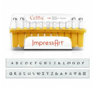 ImpressArt Celtic 3mm Alphabet Upper Case Letter Metal Stamping Set